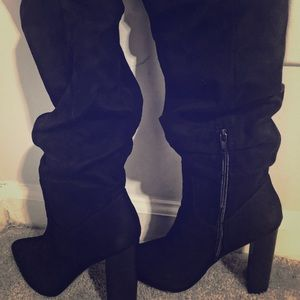 All Black Stylish Slouch Boot !!🔥❤️